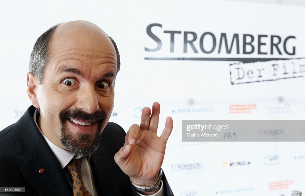 Christoph Maria Herbst (alias Bernd Stromberg) visits the set of 'Stromberg - Der Film' at Dorint Hotel on March 19, 2013 in Arnsberg, Germany.