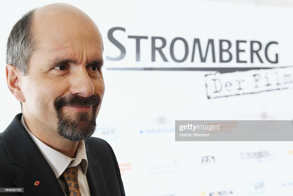 Christoph Maria Herbst (who plays Bernd Stromberg) visits the set of 'Stromberg - Der Film' at Dorint Hotel on March 19, 2013 in Arnsberg, Germany.
