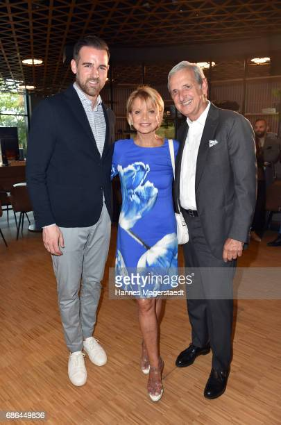 Christoph Metzelder actress Uschi Glas and her husband Dieter Hermann attend the Pre Golf Party during the 9th Golf Charity Cup hosted by the...