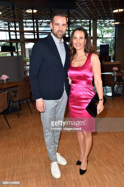 Christoph Metzelder and Andrea Ranninger attend the Pre Golf Party during the 9th Golf Charity Cup hosted by the Christoph Metzelder Foundation at...