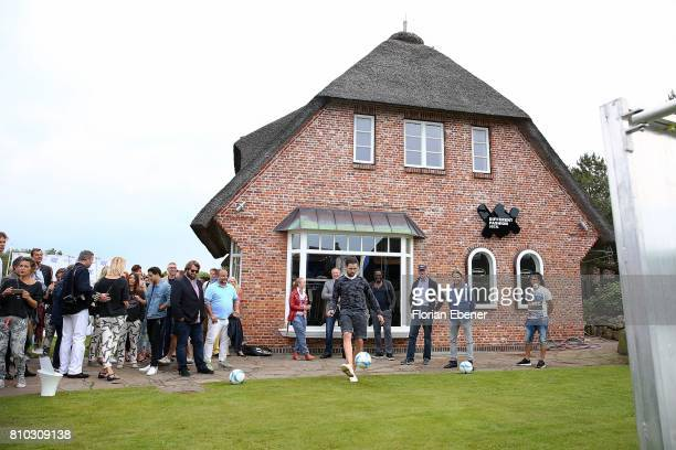 Christoph Metzelder and Paul Janke attend a store event on July 7 2017 in Sylt Germany
