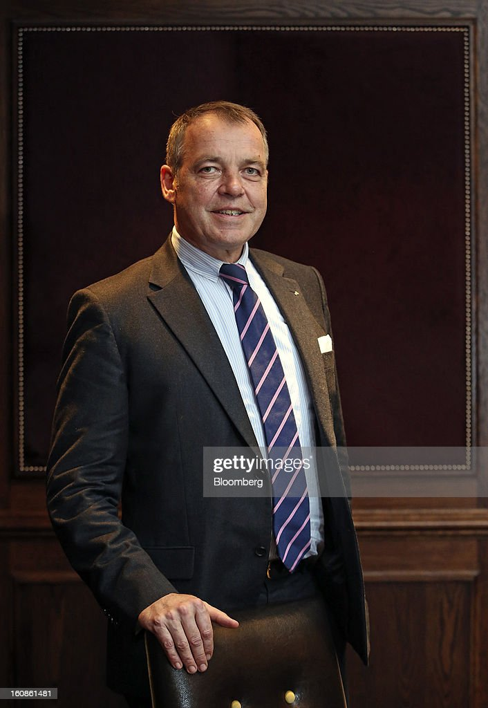 Christoph Mueller, chief executive officer of Aer Lingus Group Plc, poses for a photograph following an interview at the Goring hotel in London, U.K., on Wednesday, Feb. 6, 2013. Mueller said Ryanair Holdings Plc's plan to transfer part of the Irish flag carrier's business to Flybe Group Plc as part of a takeover bid can't be taken seriously. Photographer: Chris Ratcliffe/Bloomberg via Getty Images