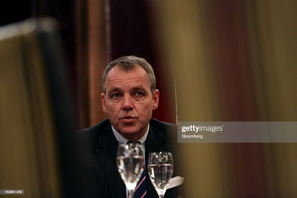 Christoph Mueller, chief executive officer of Aer Lingus Group Plc, speaks during an interview at the Goring hotel in London, U.K., on Wednesday, Feb. 6, 2013. Mueller said Ryanair Holdings Plc's plan to transfer part of the Irish flag carrier's business to Flybe Group Plc as part of a takeover bid can't be taken seriously. Photographer: Chris Ratcliffe/Bloomberg via Getty Images
