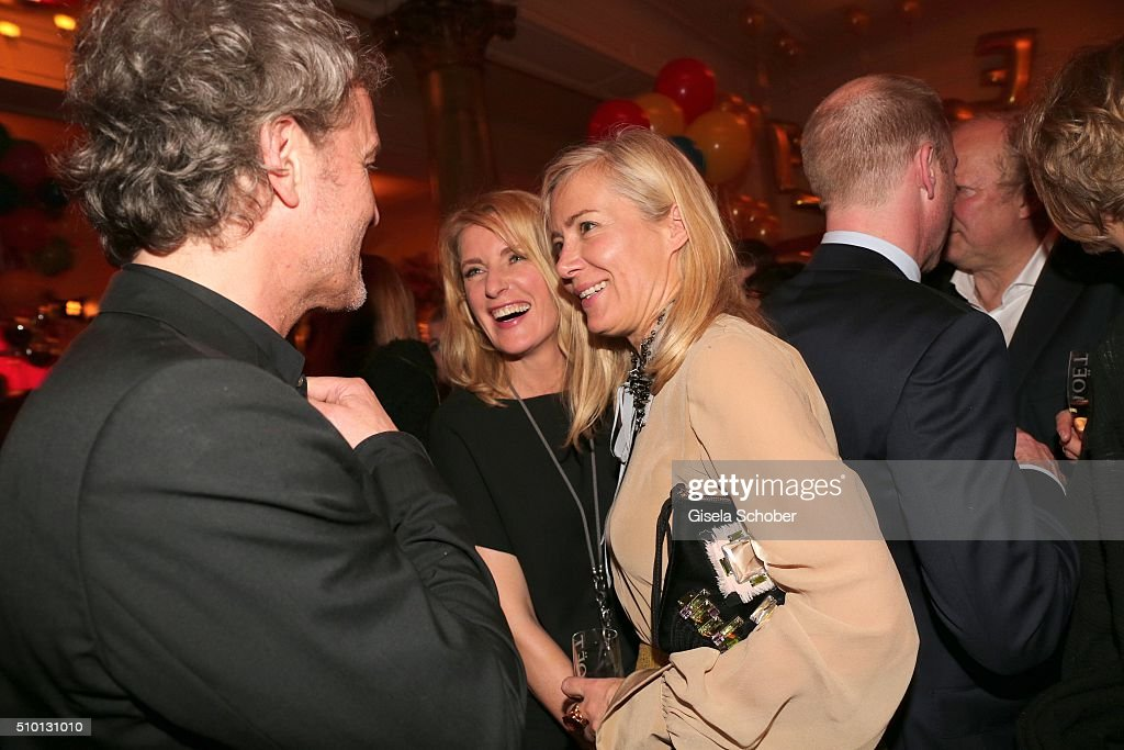 Christoph Mueller, Marie Furtwaengler Burda and Judith Milberg during the Bild 'Place to B' Party at Borchardt during the 66th Berlinale International Film Festival Berlin on February 13, 2016 in Berlin, Germany.
