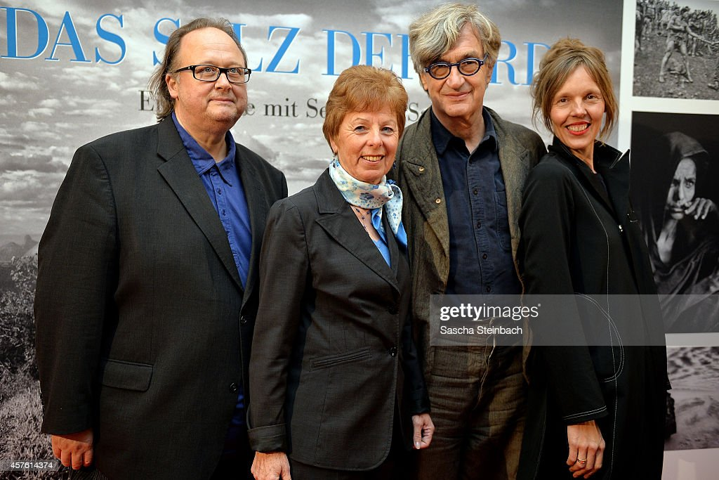 Christoph Ott minister for Federal Affairs Europe and Media of North RhineWestphalia Dr Angelica SchwallDueren director Wim Wenders and Donata...