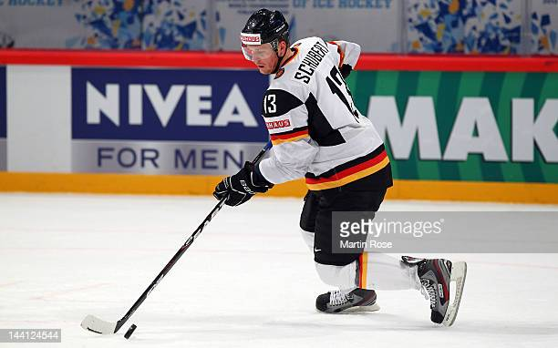 Christoph Schubert of Germany skates against Sweden during the IIHF World Championship group S match between Sweden and Germany at Ericsson Globe on...