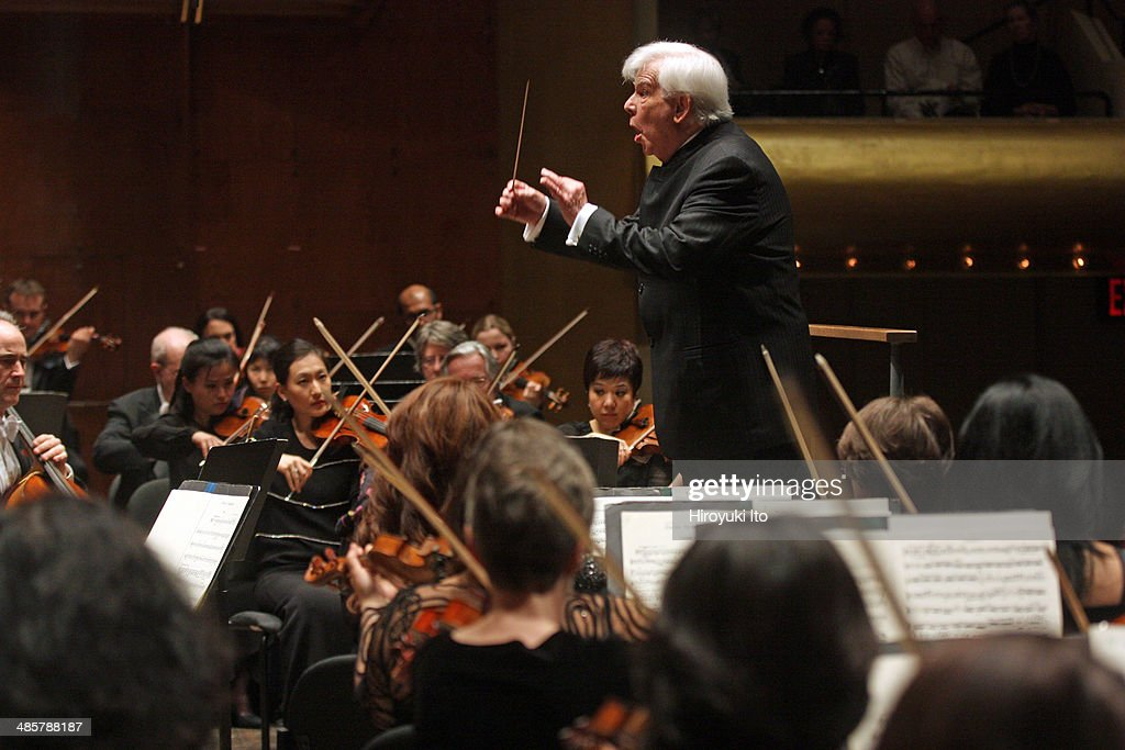 Christoph von Dohnanyi leading the New York Philharmonic in Schumann's 'Symphony No 2 in C Major' at Avery Fisher Hall on Thursday night April 10 2014