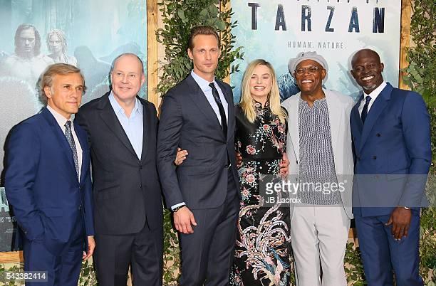 Christoph Waltz Alexander Skarsgard Margot Robbie Samuel L Jackson and Djimon Hounsou attend the premiere of Warner Bros Pictures' 'The Legend of...