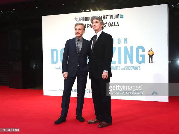 Christoph Waltz and Alexander Payne attend the UK premiere of 'Downsizing' the BFI Patron's Gala during the London Film Festival on October 13 2017...