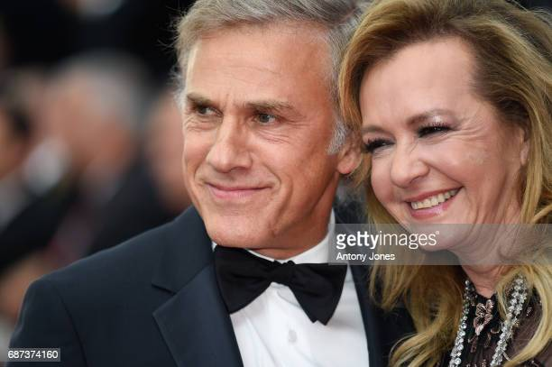 Christoph Waltz and Caroline Scheufele attend the 70th Anniversary of the 70th annual Cannes Film Festival at Palais des Festivals on May 23 2017 in...