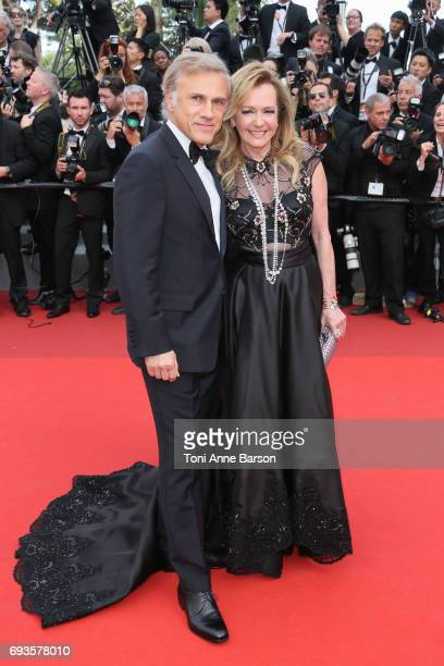 Christoph Waltz and Caroline Scheufele attend the 70th anniversary event during the 70th annual Cannes Film Festival at Palais des Festivals on May...