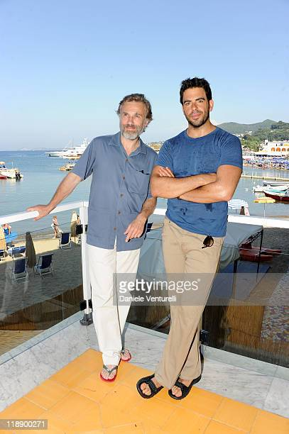 Christoph Waltz and Eli Roth attend day 3 of the Ischia Global Film And Music Festival on July 12 2011 in Ischia Italy