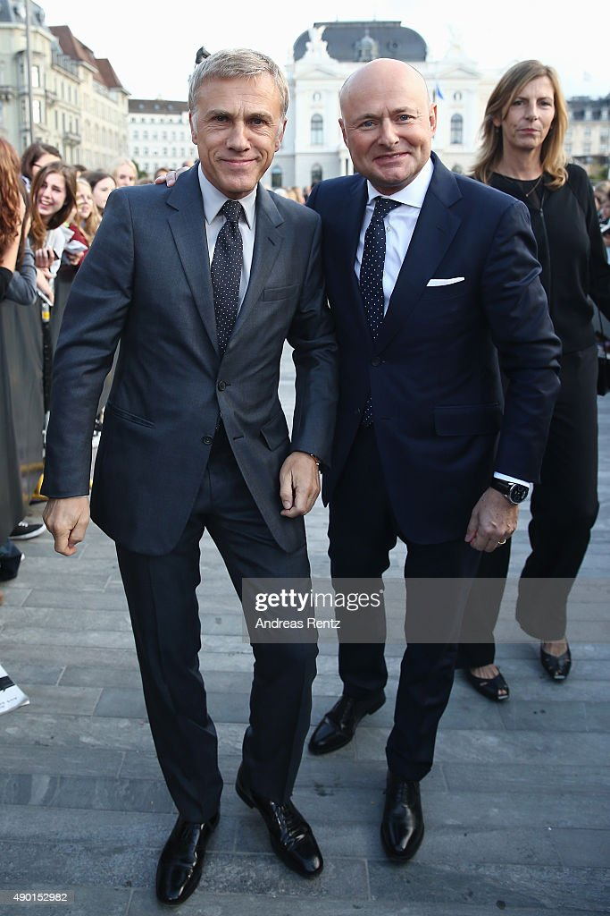 Christoph Waltz and Georges Kern, CEO of IWC Schaffhausen, attend the special screening 'Inglourious Basterds' during the Zurich Film Festival on September 26, 2015 in Zurich, Switzerland. The 11th Zurich Film Festival will take place from September 23 until October 4.