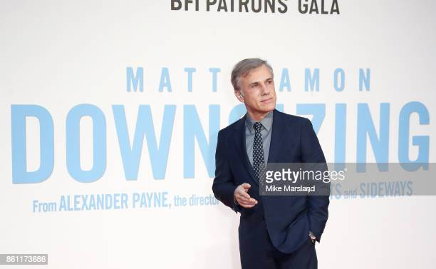 Christoph Waltz attends the BFI Patron's Gala UK Premiere of 'Downsizing' during the 61st BFI London Film Festival on October 13 2017 in London...