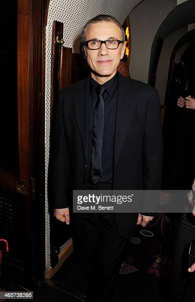 Christoph Waltz attends the Charles Finch and Chanel PreBAFTA cocktail party and dinner at Annabel's on February 8 2013 in London England