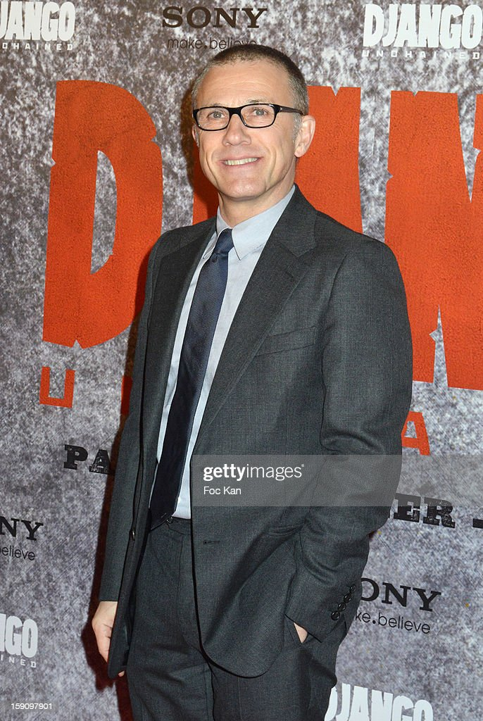 Christoph Waltz attends the 'Django Unchained' Paris premiere red carpet arrival at Le Grand Rex on January 7, 2013 in Paris, France.