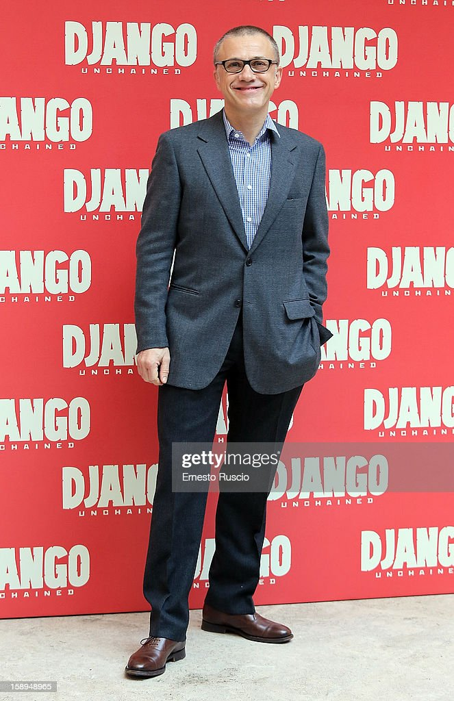 Christoph Waltz attends the 'Django Unchained' photocall at the Hassler Hotel on January 4, 2013 in Rome, Italy.
