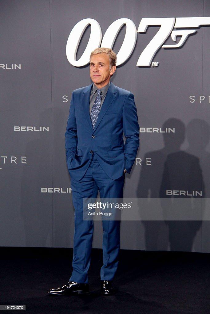 Christoph Waltz attends the 'Spectre' Germany premiere in on October 28, 2015 in Berlin, Germany.