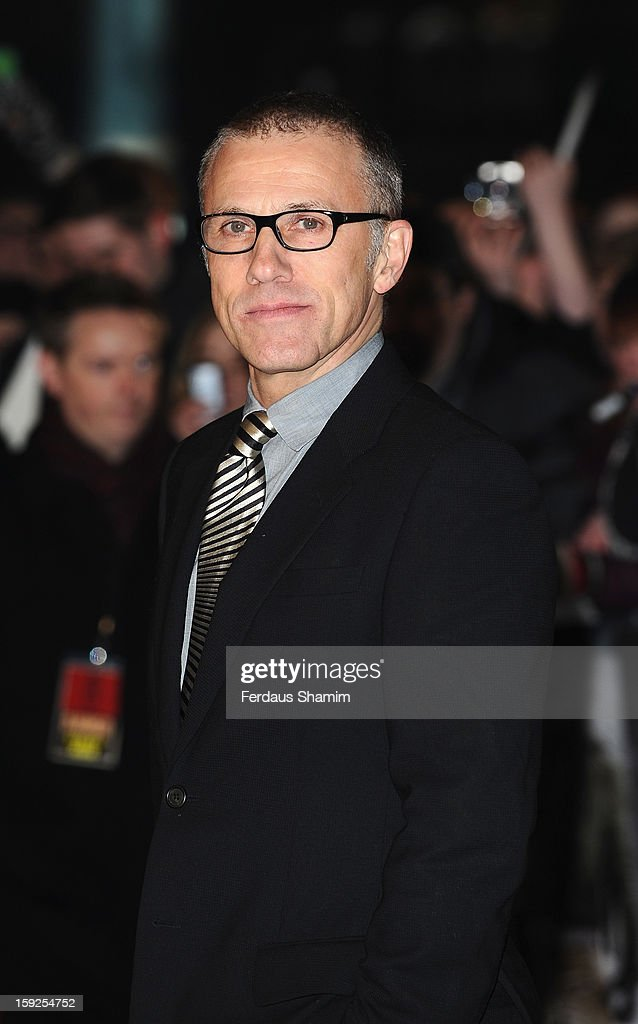Christoph Waltz attends the UK Premiere of 'Django Unchained' at Empire Leicester Square on January 10, 2013 in London, England.