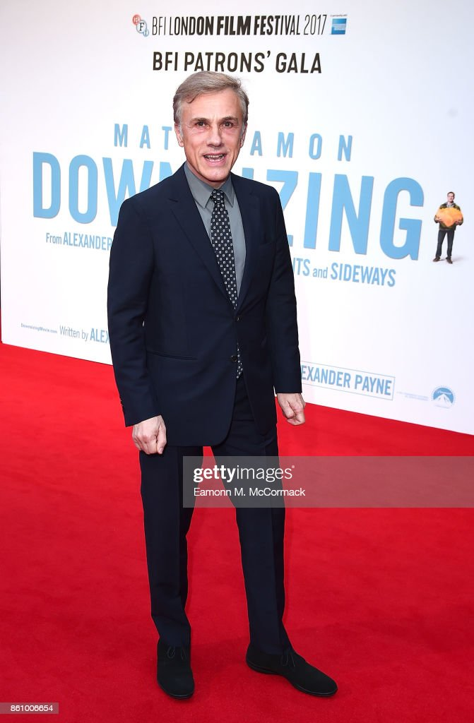 Christoph Waltz attends the UK premiere of 'Downsizing', the BFI Patron's Gala, during the London Film Festival, on October 13, 2017 in London, England.