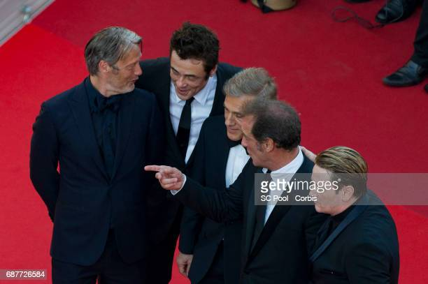 Christoph Waltz Benicio del Toro Vincent Lindon Mads Mikkelsen and Benoit Magimel attend the 70th Anniversary of the 70th annual Cannes Film Festival...