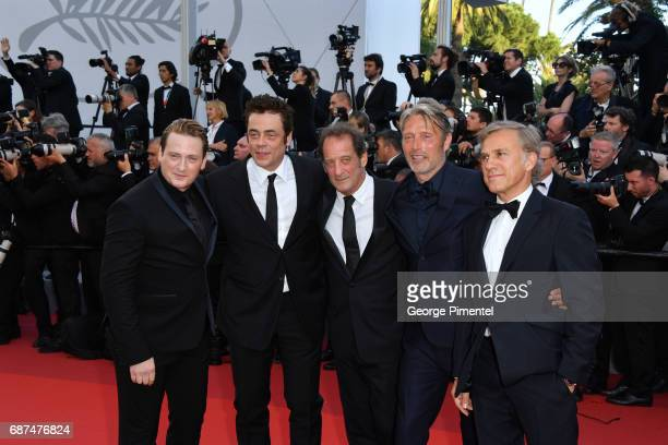 Christoph Waltz Benicio del ToroVincent Lindon Mads Mikkelsen and Benoit Magimel attend the 70th Anniversary screening during the 70th annual Cannes...