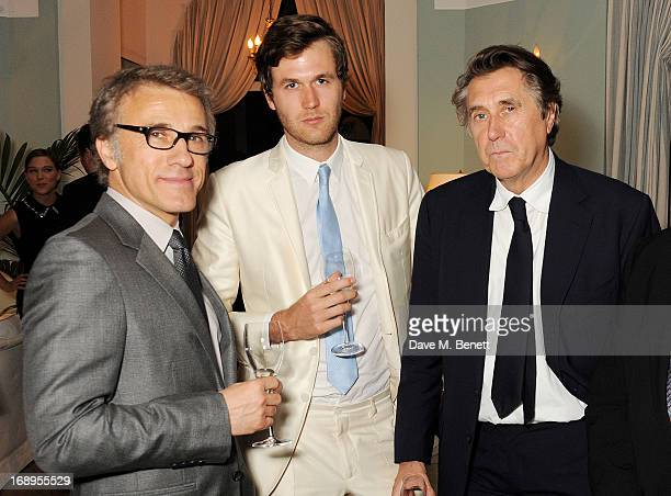 Christoph Waltz Isaac Ferry and Bryan Ferry attend the annual Finch's Quarterly Review Filmmakers Dinner hosted by Charles Finch Caroline Scheufele...