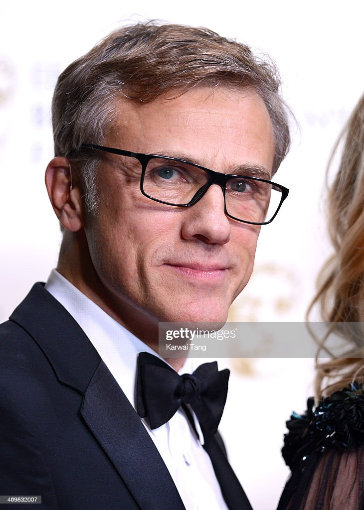Christoph Waltz poses in the winners room at the EE British Academy Film Awards 2014 at The Royal Opera House on February 16, 2014 in London, England.