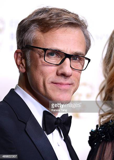 Christoph Waltz poses in the winners room at the EE British Academy Film Awards 2014 at The Royal Opera House on February 16 2014 in London England