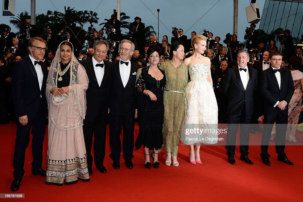 Christoph Waltz Vidya Balan Ang Lee Steven Spielberg Lynne Ramsay Naomi Kawase Nicole Kidman Daniel Auteui and Cristian Mungiu attend the Opening...