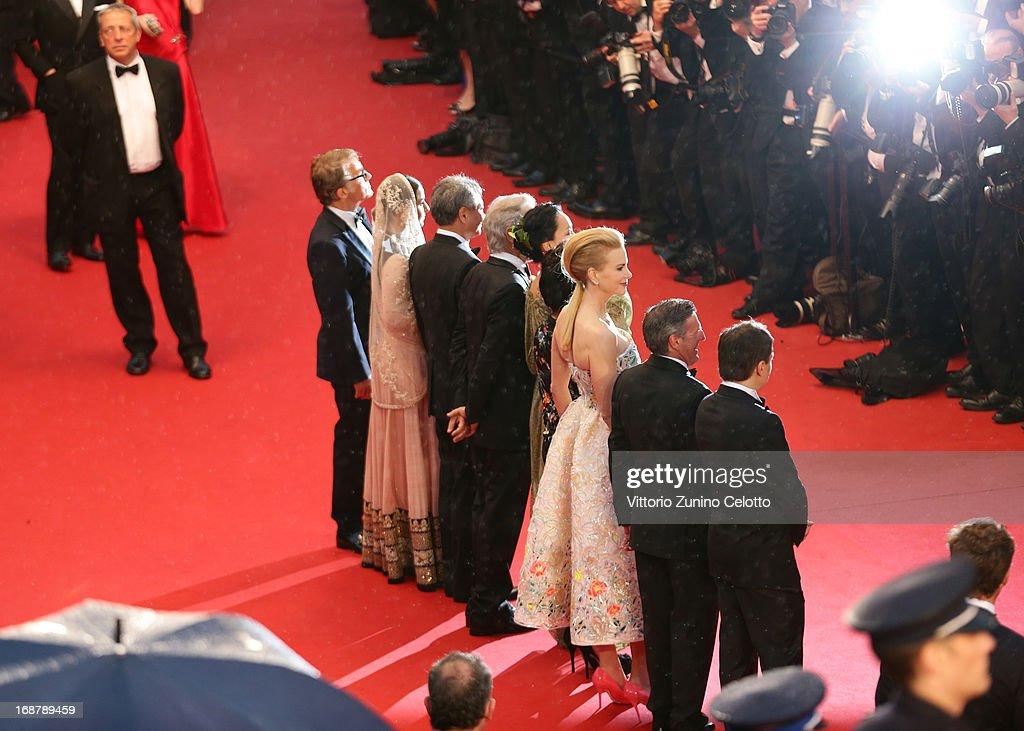 Christoph Waltz Vidya Balan Ang Lee Steven Spielberg Naomi Kawase Lynne Ramsay Nicole Kidman Daniel Auteui and Cristian Mungiu attend the Opening...