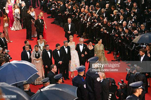 Christoph Waltz Vidya Balan Daniel Auteui Cristian Mungiu Ang Lee Nicole Kidman Steven Spielberg Lynne Ramsay and Naomi Kawase attend the Opening...