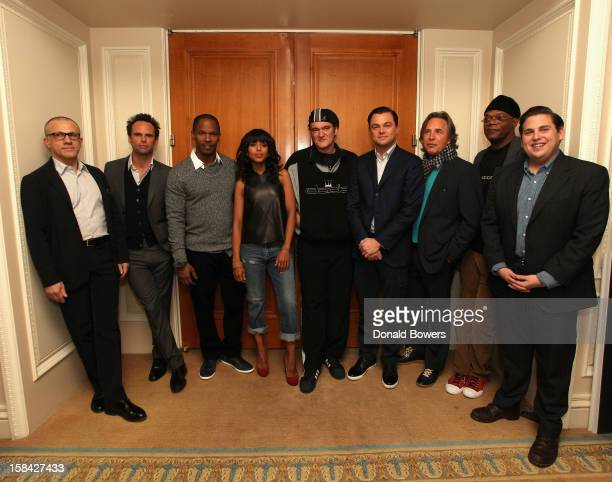 Christoph Waltz Walton Goggins Jamie Foxx Kerry Washington Quentin Tarantino Leonardo Dicaprio Don Johnson Samuel L Jackson and Jonah Hill attend...