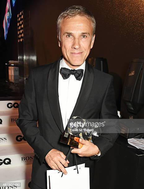 Christoph Waltz winner of the Actor of the Year award attends the GQ Men Of The Year Awards at The Royal Opera House on September 8 2015 in London...