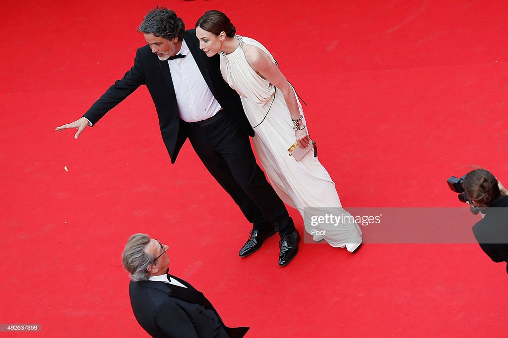 Christophe Barratier and Elsa Zylberstein attend 'The Search' premiere during the 67th Annual Cannes Film Festival on May 21, 2014 in Cannes, France.