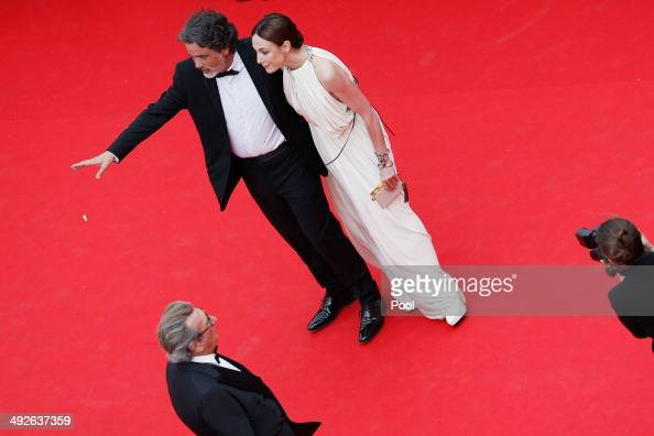 Christophe Barratier and Elsa Zylberstein attend 'The Search' premiere during the 67th Annual Cannes Film Festival on May 21 2014 in Cannes France