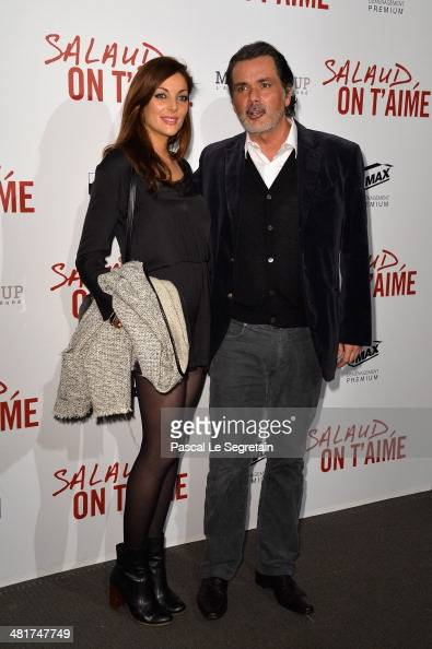 Christophe Barratier and his companion Gwendoline Doytcheva attend 'Salaud On T'Aime' Paris Premiere at Cinema UGC Normandie on March 31 2014 in...
