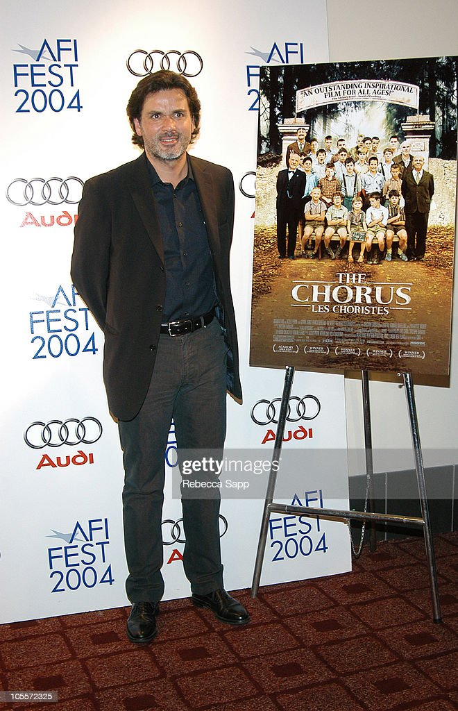 Christophe Barratier director of 'The Chorus' during AFI FEST 2004 Presented by Audi 'The Chorus' Arrivals at Archlight Theatre in Hollywood...