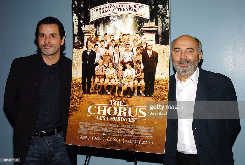 Christophe Barratier director/writer/composer and Gerard Jugnot