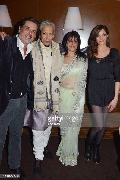 Christophe Barratier Rahul Vohra Mona Iraniand Gwendoline Doytcheva attend the Moma Group President Benjamin Patou receives his friend Claude Lelouch...