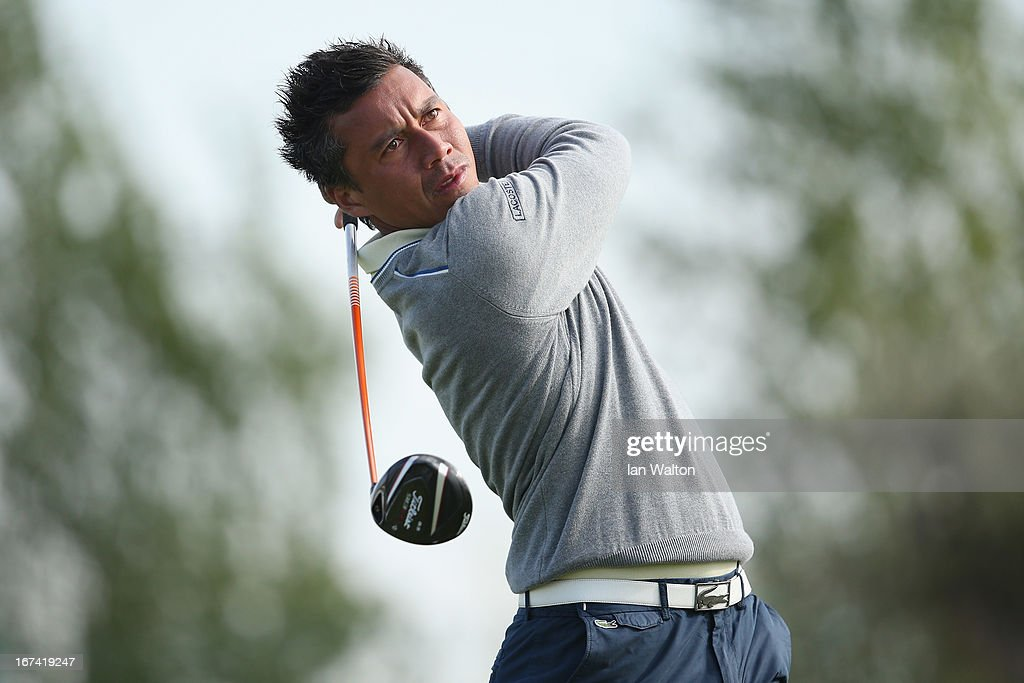 Christophe Brazillier of France in action during the 2nd round of the Challenge de Madrid on the European Challenge Tour in El Encin Golf Course on April 25, 2013 in Madrid, Spain.