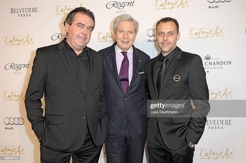 Christophe Cann, Philippe Houze and Vincent Senecat attends Les Galeries Lafayettes Re-Open Ground Floor on November 14, 2012 in Berlin, Germany.