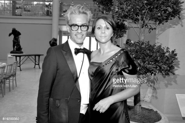 Christophe Carrere and Carine Bauvey attend HAUT BRION 75th Anniversary at The Metropolitan Museum of Art on July 12 2010 in New York City