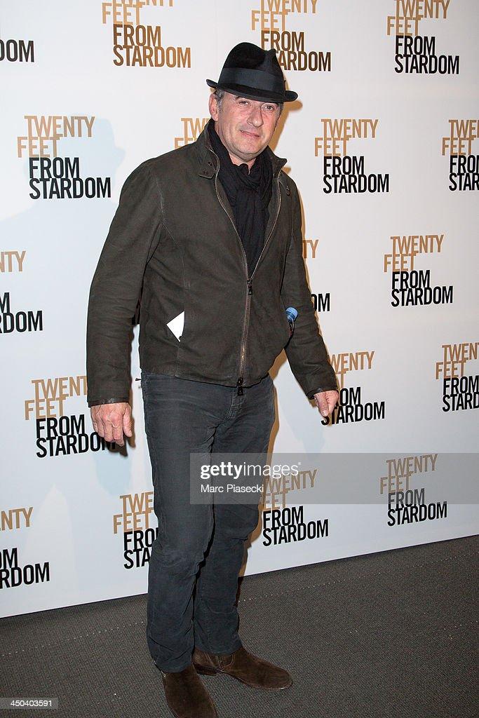 Christophe Dechavanne attends the 'Twenty feet from stardom' Paris premiere at Cinema UGC Normandie on November 18, 2013 in Paris, France.