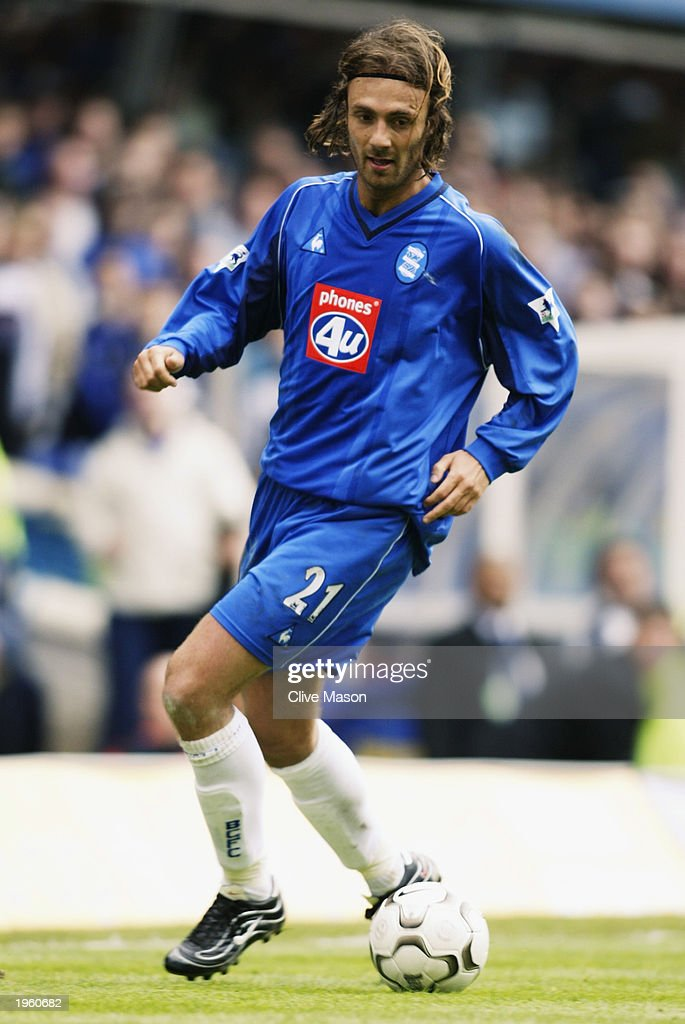 Christophe Dugarry of Birmingham City runs with the ball during the FA Barclaycard Premiership match between Birmingham City and Middlesbrough held on April 26, 2003 at St Andrews, in Birmingham, England. Birmingham City won the match 3-0.