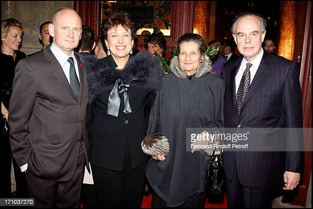 Christophe Girard Roselyne Bachelot Narquin Simone Weil and Frederic Mitterrand at Charity Dinner Celebrating 25 Years Of Support To Reopen L' Ecole...