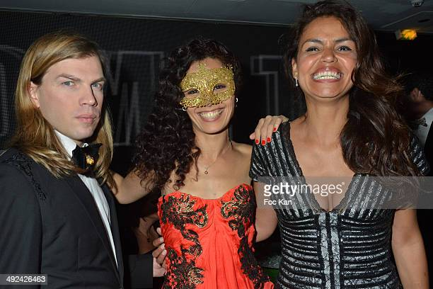 Christophe Guillarme Aida Touhiri and Laurence Roustandjee attend the VIP Room JW Marriott Day 6 Dancing Spies Ball hosted by Rosario Dawson 67th...