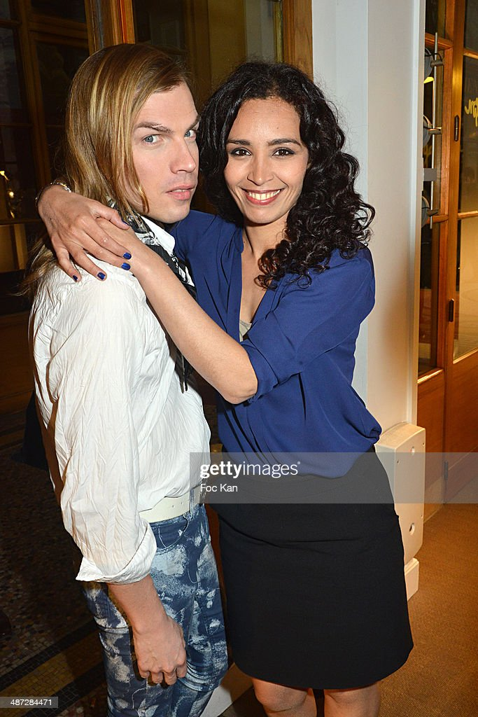 Christophe Guillarme and Aida Touihri attend 'Charriol' Ephemeral Boutique opening hosted by Nathalie Garcon at Galerie Vivienne on April 28 2014 in...