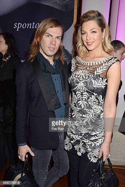 Christophe Guillarme and Eleonore Boccara attend the 'Mayshad Luxury Bag BFF' Launch Party At Park Hyatt Vendome on November 18 2014 in Paris France
