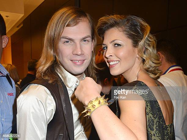 Christophe Guillarme and Eleonore Boccara attend the 'Salon Du Chocolat Chocolate Fair 20th Anniversary' At the Parc des Expositions Porte de...